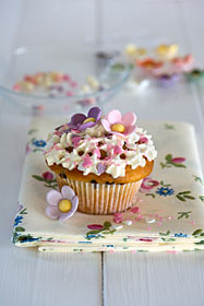 Fondant-Blumen Cupcake