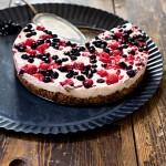 Himbeer Heidelbeer Rohkost Kaesekuchen Torte