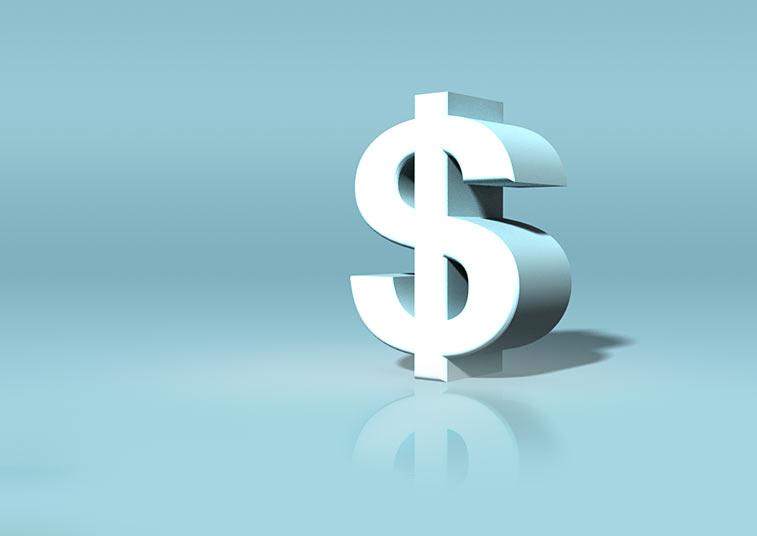 Dollarzeichen 3D Symbol