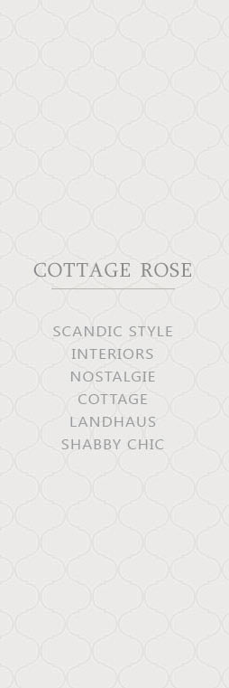 Cottage Rose Glas Cloche