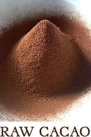 Rohe Schokolade roher Kakao Berg