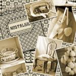 Vintage Bilder aus der guten alten Zeit - Nostalgie Stoffmuster