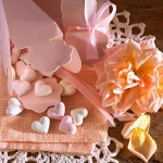 Zuckerherzen Geschenktuete Bonbons Geschenk Giveaways mit Rose