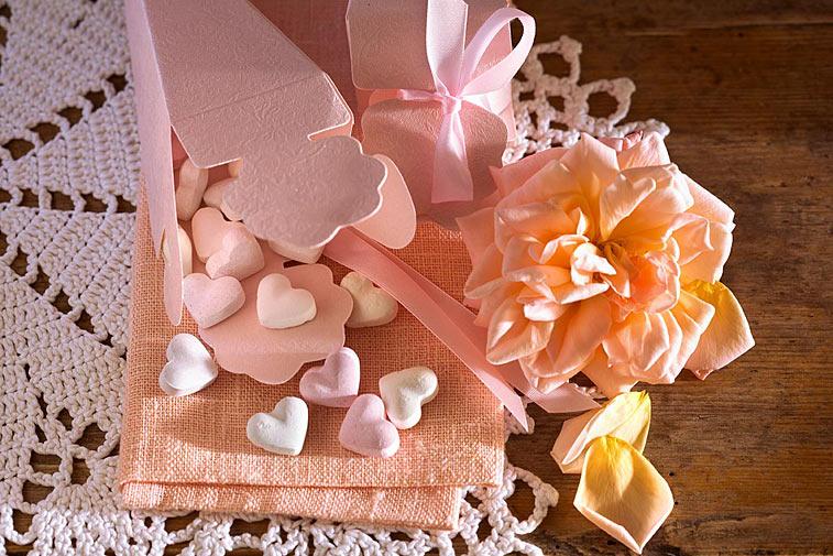 Zuckerherzen Geschenktüte Bonbons Geschenk Giveaways mit Rose