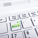Business Foto AGB-Taste Tastatur Notebook Laptop weiss