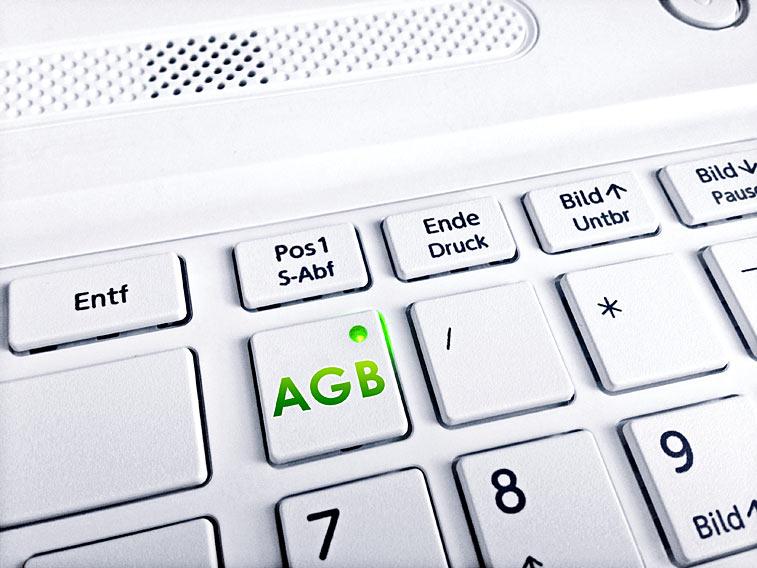 Business Foto AGB-Taste Tastatur Notebook Laptop weiss