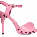 Rosa Sandalen High Heels Damenschuhe Nieten