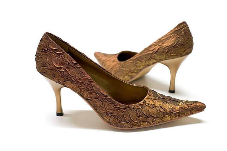 brokat pumps bronze abendschuhe goldene. Black Bedroom Furniture Sets. Home Design Ideas