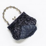 Schwarze Perlentasche Abendtasche Pailletten