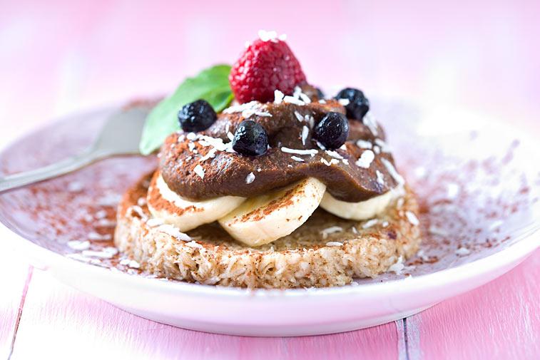 Rohkost Kuchen Törtchen Kokos Bananen Früchte