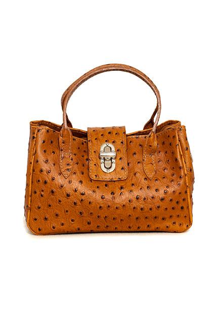 Straußenleder Handtasche