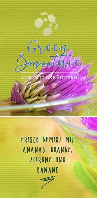 Grüner Smoothie aus Wildkräutern - Schnittlauchblüte