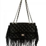 Jumbo Flap-Bag Fransen Handtasche Blogger Style