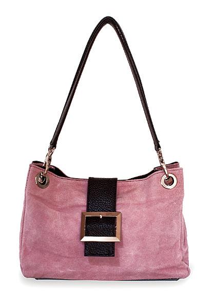 Rosa Wildleder Ledertasche Handtasche pink