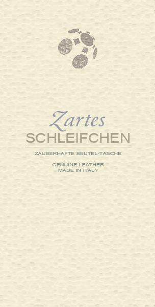 Lederbeutel Schleifchen-Tasche genuine Ledertasche Italy