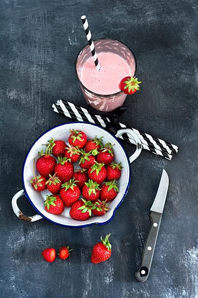 Erdbeermilch Smoothie