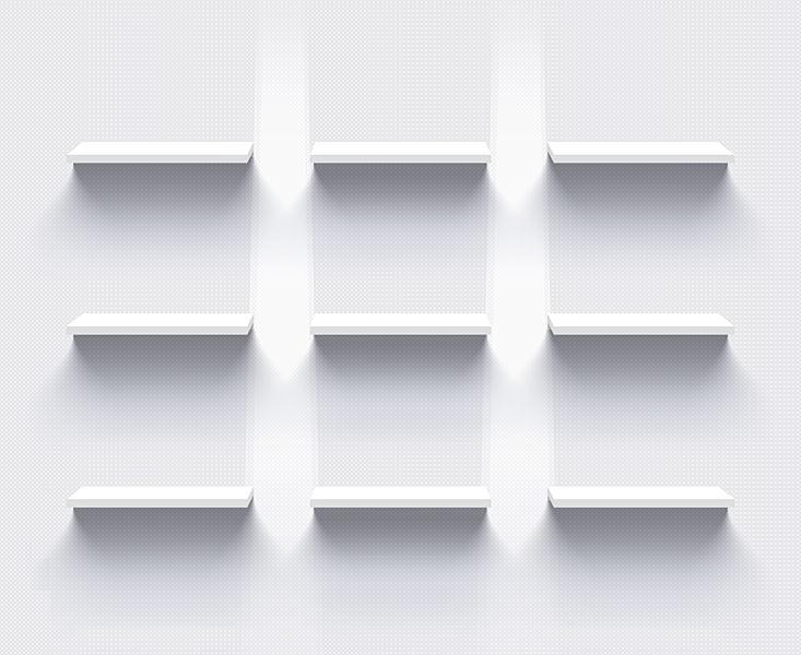 Ladenregale Schaufenster Illustration