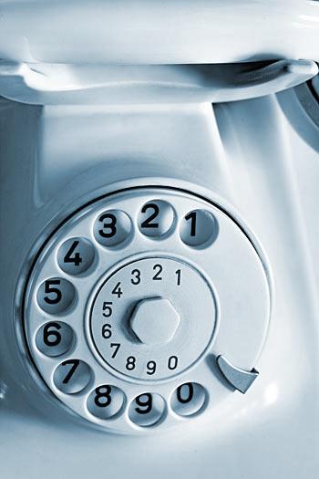 Telefon Wählscheibe blau