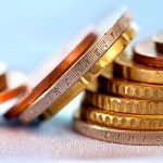 Euro Münzen Geldstapel