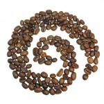 Kaffeebohnen Spirale