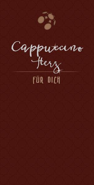 Tasse Cappuccino mit Herz