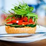 Salat Brötchen
