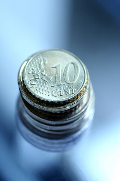 Geldstapel 10 Cent