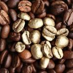 Goldene Kaffeebohnen