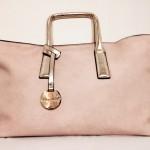 Handtasche rosa gold