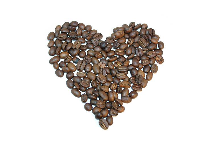 Kaffeebohnen Herzform