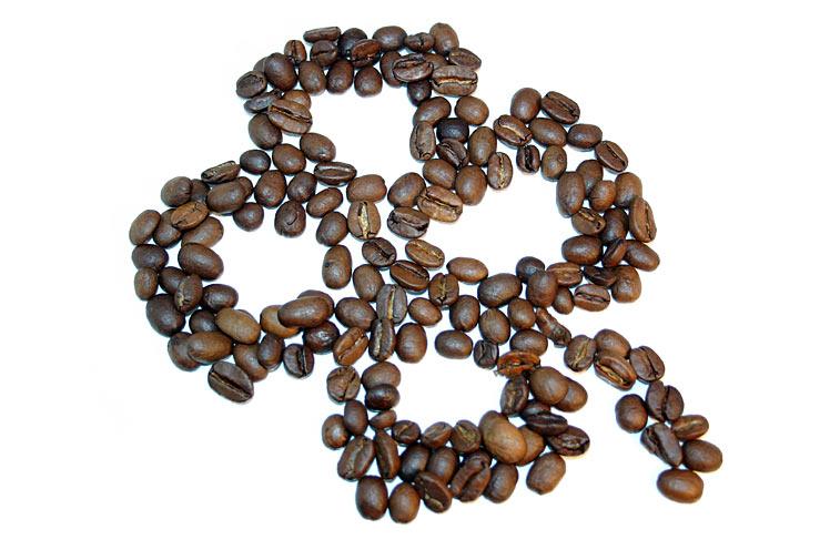 Kaffeebohnen Kleeblatt