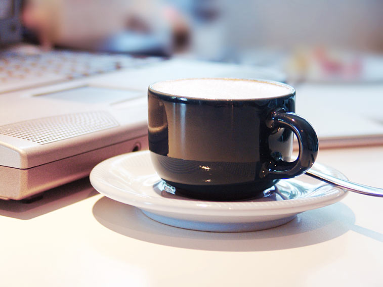 Kaffeetasse Laptop