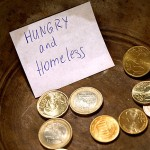 Kleingeld Hunger Obdachlose