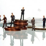 Manager Euro Geldstapel
