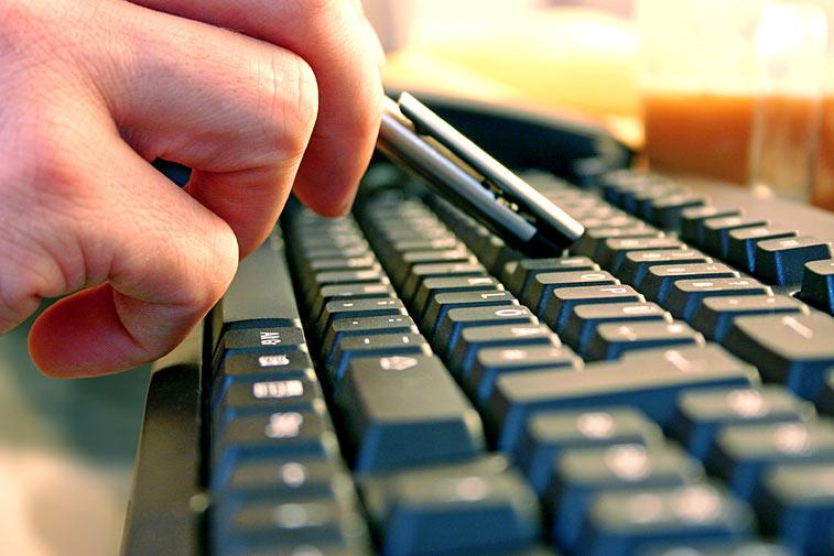Tastatur tippen Kugelschreiber