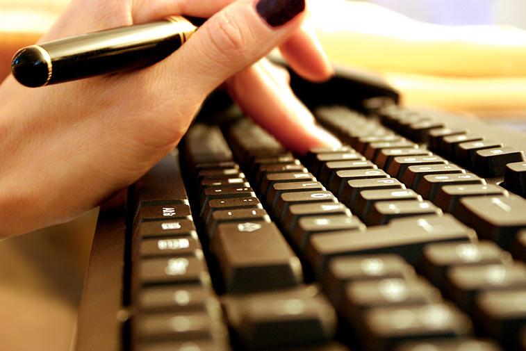 Tastatur tippen