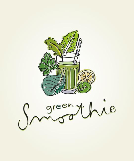 Grüner Smoothie Illustration
