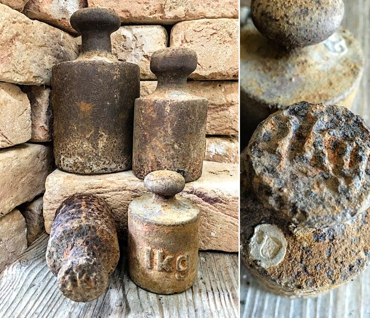 Alte Eisengewichte Punze