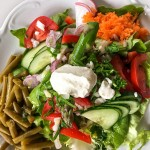 Salatteller Spargel