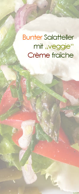 Salatteller vegane Creme fraiche
