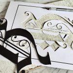 Buchstaben Stencil Schablone