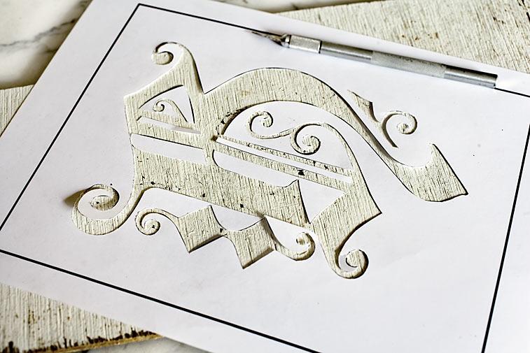 Nostalgie Buchstaben Schablone
