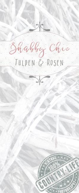 Rosa Tulpen weisse Rosen Shabby Chic Kranz