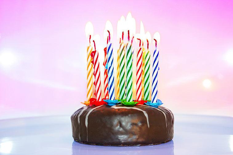 Geburtstagstorte Kerzen