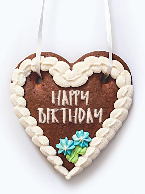 Lebkuchenherz Happy Birthday Geburtstag
