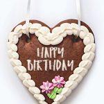 Lebkuchenherz Happy Birthday Geburtstag rosa