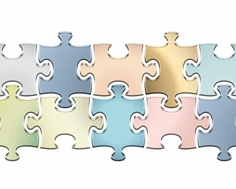 Metallic Puzzleteile