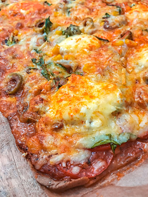 Teffmehl Gemüsepizza