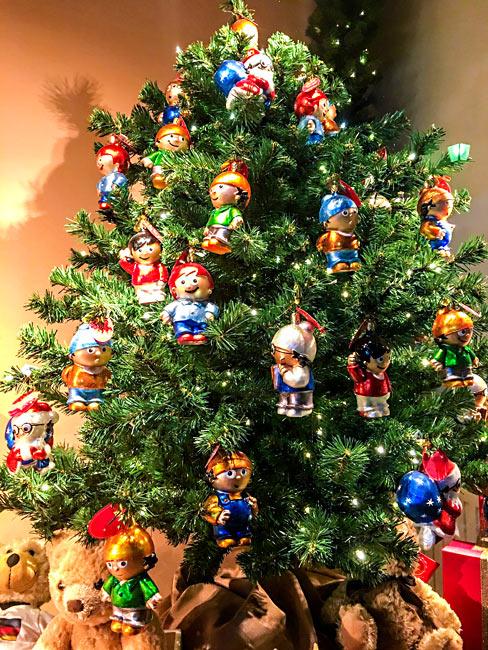 Weihnachtsbaum Tannenbaum-Christbaumkugeln Mainzelmännchen