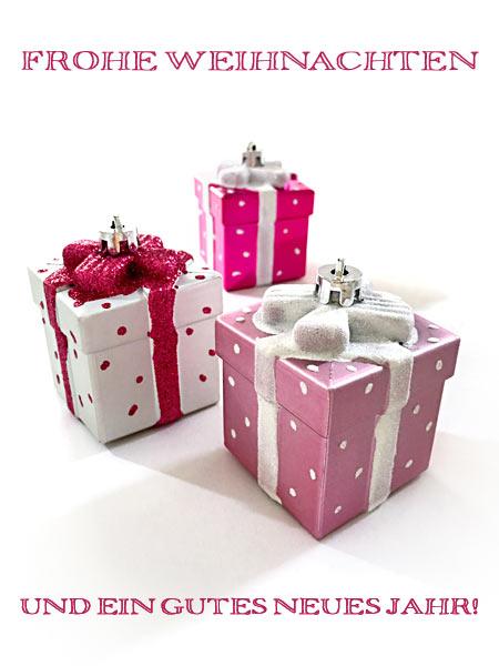 Weihnachtskarte Geschenkpäckchen